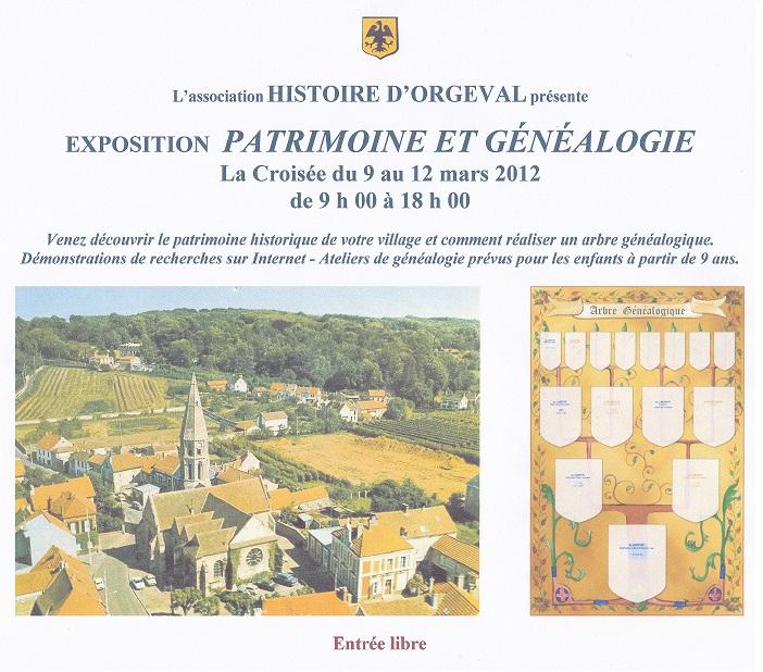 Exposition Patrimoine et Généalogie - Mars 2012
