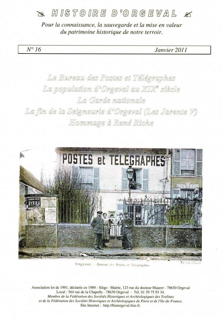 Bulletin N° 16 - 2011