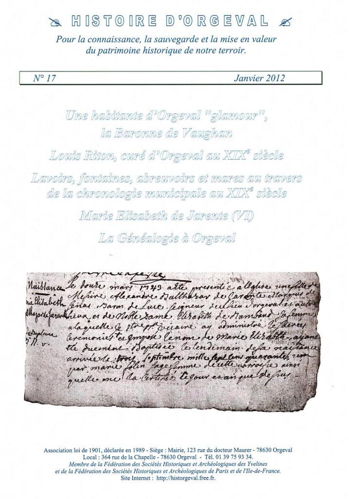 Bulletin N° 17 - 2012