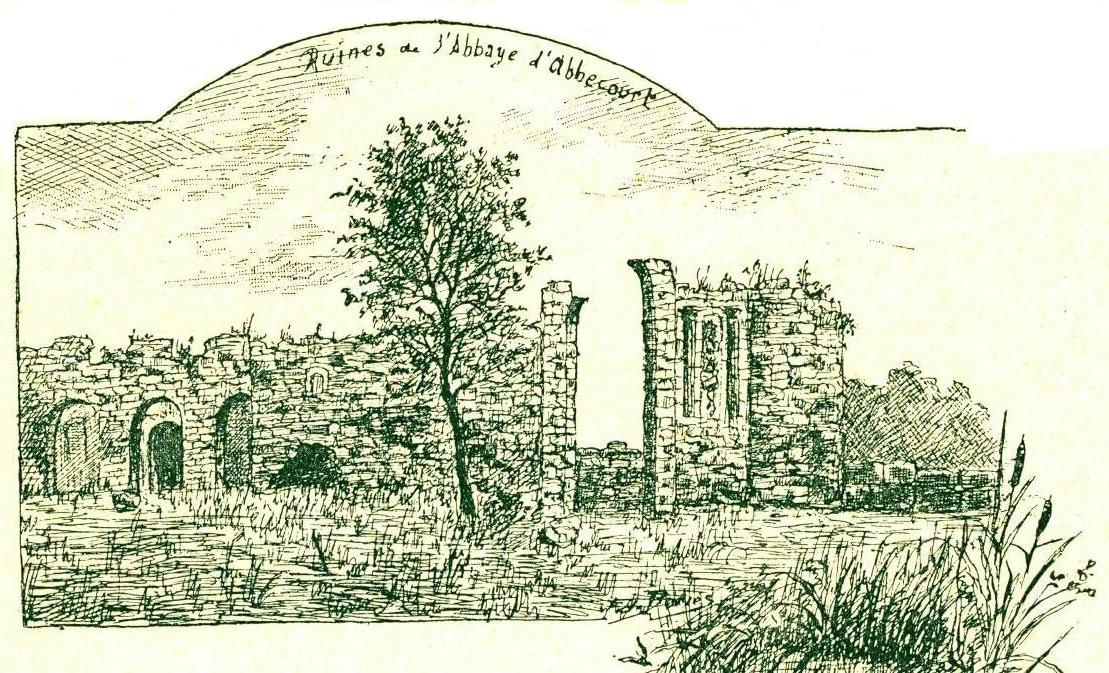 01 ruines d abbecourt dessin ed bories 1901