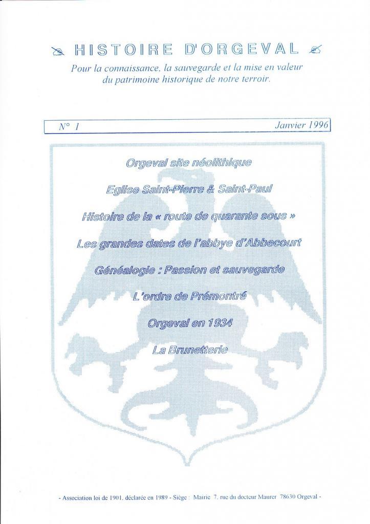 Bulletin N°1 - 1996
