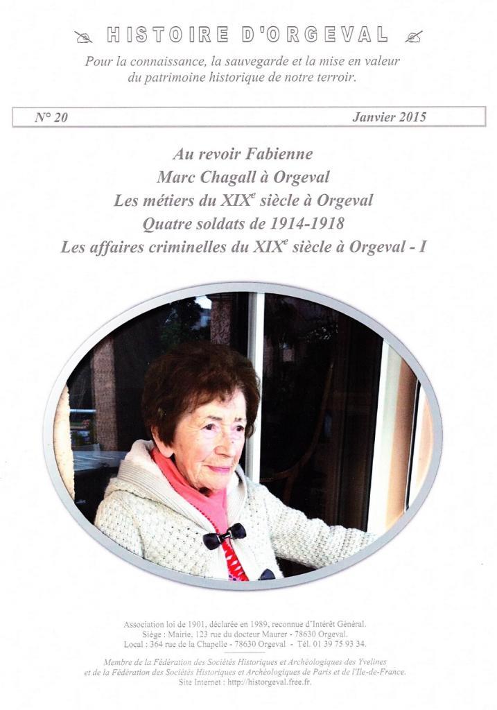 Bulletin N° 20 - 2015