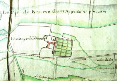 Plan de l'abbaye au XVIIIe siècle