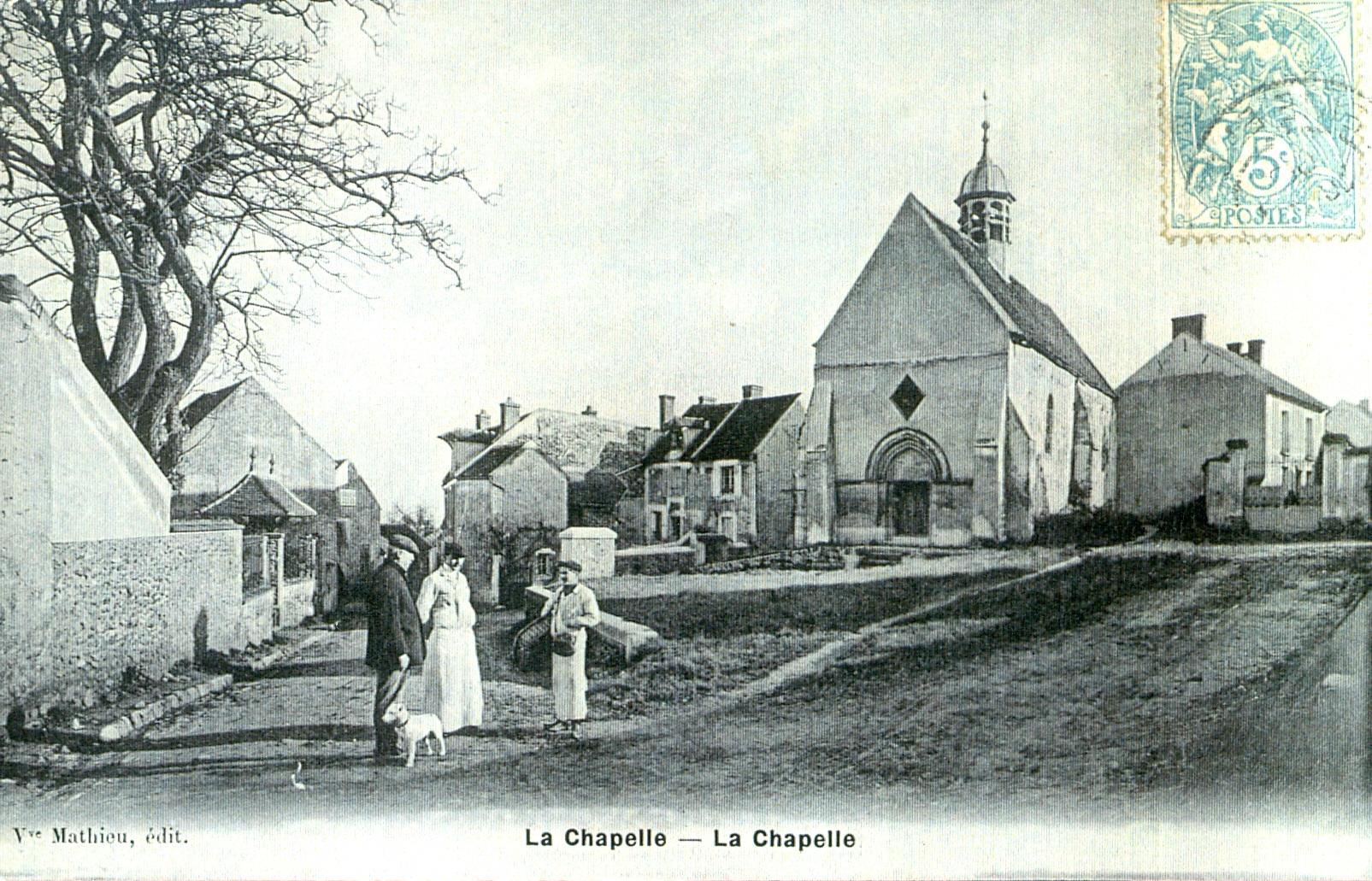 Carte postale de la chapelle Saint-Jean à la fin du XIXe siècle